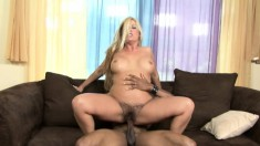Joclyn Stone enjoys the pleasures that a huge black dick has to offer