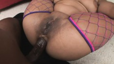 Chubby Mone Divine gets dicked in the cunt before he moves to her ass