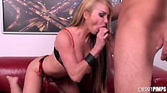 Blonde MILF Taylor Wane has massive melons that bounce high when she's fucked