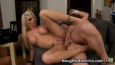 Brooke Haven gets her inked up pussy pounded down to the balls