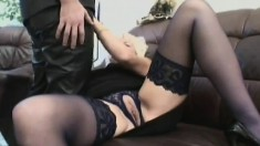 Kinky German milf in lingerie feeds her intense desire for young meat
