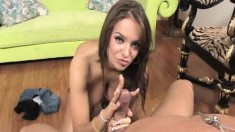Bodacious beauty Nika Noire touches herself and strokes a big shaft