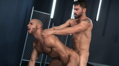 Stunning gay boys take turns deeply drilling each other's fiery asses