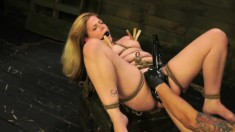 Lustful Babe With Sexy Legs Lily Ligotage Learns A Lesson In Bondage