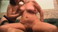 Girl getting fucked with big boobs