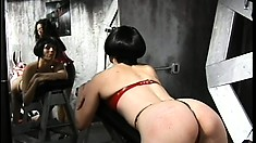 Mistress Olivia makes her naughty slut slave Lita pay with a spanking