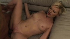 Michelle gets drilled by a black stud until she screams with pleasure