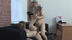 Playful young blonde gets stripped and banged by a horny stranger