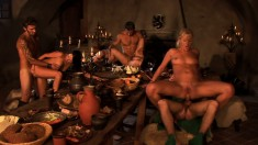 Smoking hot Claudia Adams is eager to engage in a sweaty orgy