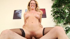 Cherie DeVille is a sexy MILF who loves sucking dick and getting plowed