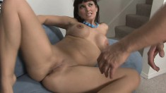 Lustful milf with big boobs seduces a young man to fulfill her desires