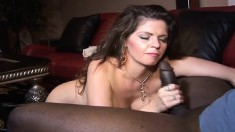 Curvaceous milf June Summers loves to suck and fuck a big black shaft