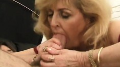 Luscious mature lady in stockings Kitty Fox has a passion for anal sex