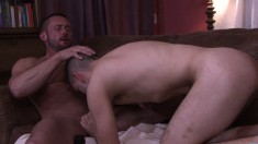Adorable guy plays out his exciting gay fantasies with his stepfather