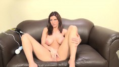 Buxom Cali Marie surrenders her squirting pussy to every inch of dick