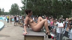 Amateur Girl Striptease In Public Woods