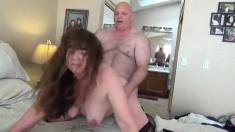 Mature stockings amateur slut