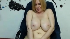 Blonde BBW Milf with Huge Boobs