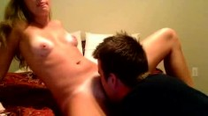 Jessica Drake Blonde Babe Let Hot Guy Lick Her Cunt