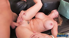 Dyana bounces on that cock with such fervor that her whole body quivers with pleasure