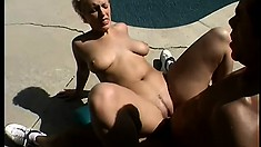 Chunky college girl has a sensual and exciting interracial fuck fest