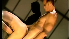 Dirty cell-mate sells his ass to buddy for a chance to feel orgasm