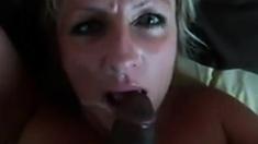 Mature white girl loves her black lover's cum