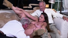 Arab Teen Old Man Ivy Impresses With Her Immense Baps And