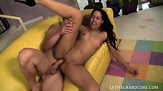 Latina with an apple bottom gets banged like there's no tomorrow