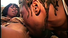 Buxom Black Africa Gets Her Big Booty Pounded Hard By A Big Rod
