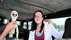 Amateur bosomy female wants to know what the bang bus really means