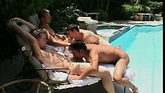 Group sex with horny Jason, sultry Dean and their friends looks good