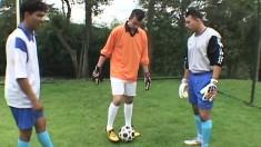 Latino soccer players go balls deep down throats and assholes