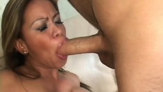 Luscious Asian mom with big tits has a young stud fulfilling her needs